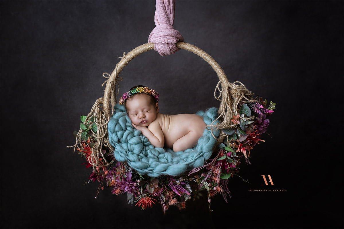 Neugeborene Fotografie im Studio